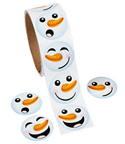 Fun Express Happy Snowman Face Stickers (200 Stickers Total) -