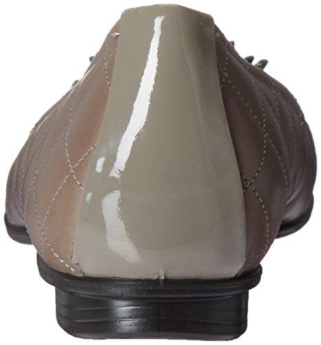 Stone Warm con Touch Cerrada Grey Mujer para Ecco Ballerina Punta Bailarinas 6nfg1vWc