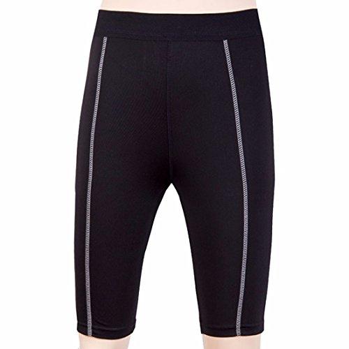 la mode des femmes sportives short transpirent compression de base formation serree cinquieme pantalons