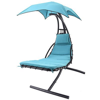 Hanging Dream Lounger Chair Arc Stand Air Porch Swing Ham...