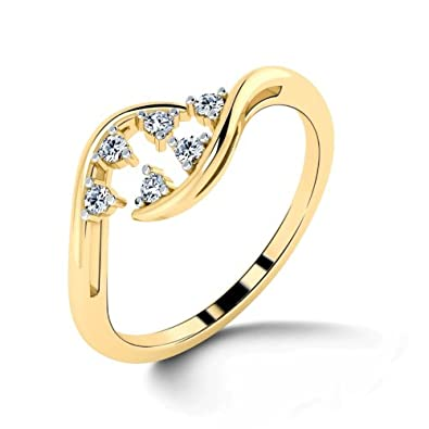 d8e24188af14f Buy CaratLane 18K Yellow Gold and Diamond Ring Online at Low Prices ...