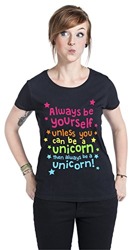 Always Be Yourself Girl-Shirt Schwarz XS