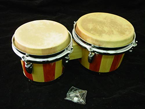 NEW LIGHT NATURAL WOOD - 02 - BONGO DRUM SET Conga ROCK by EDMBG