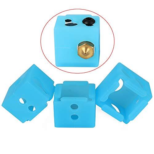 Piezas de la impresora 3D FYSETC MP Select Mini V2 Calcetín de silicona BP6 Bloque calentador Cubierta de silicona Hotend Protect para Anycubic Hotend / Monoprice MP Select Mini V2 / MP Mini Delta, 3 piezas