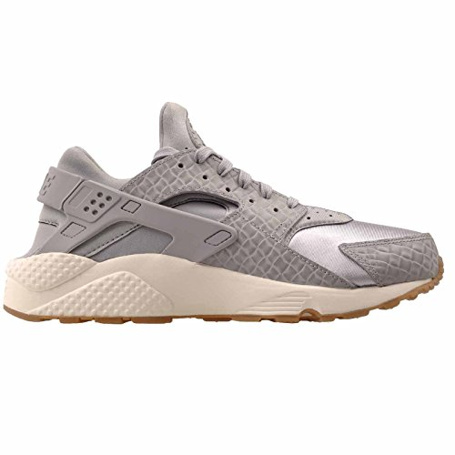 Nike Womens Wmns Huarache Run Prm Premium Scarpe Da Corsa Sneakers Lupo Grigio / Lupo Grigio-vela