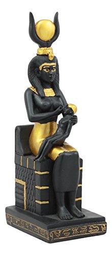 Ebros Classical Egyptian Goddess Ra Isis Nursing Horus Baby Statue 7.25
