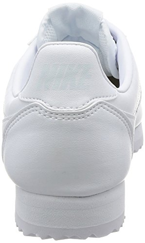 NIKE Blanc Cortez Baskets White Leather Classic Femme pHwUZ