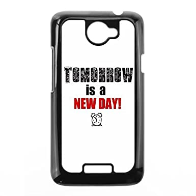 Htc One X Cell Phone Case Black Quotes Tomorrow New Day Ccfvy
