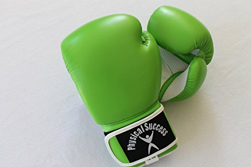 Physical Success Partners Lime Green Boxing Gloves 12oz (One Pair) -