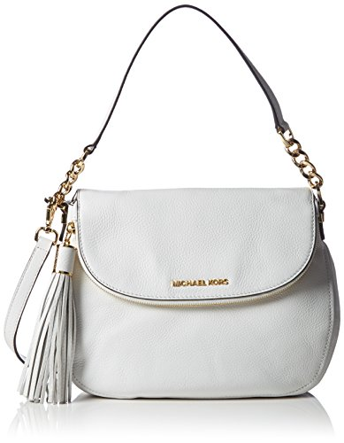 913296a090 Michael Kors Women s Bedford Tassle Medium Convertible Shoulder Bag  Shoulder Bag White Weiß (Optic White 085)  Amazon.co.uk  Shoes   Bags