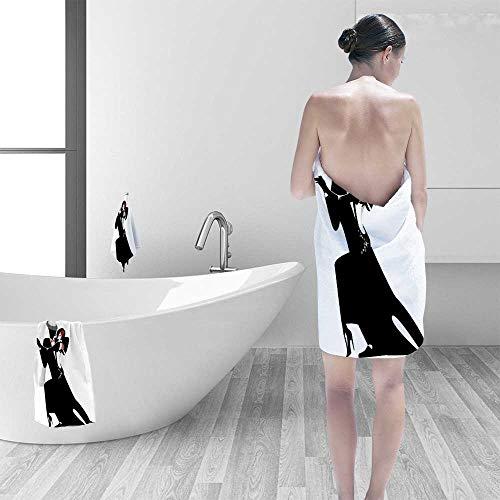 Printsonne Microfiber Towels Man and Woman Partners Romantic Dance Tango Waltz Lovers in Rhythmic Music Art Multipurpose, Quick Drying by Printsonne (Image #6)