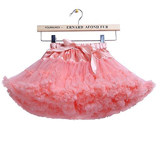 storeofbaby Girls Tulle Fluffy Tutu Skirt Princess Party Petticoat, 2-4 Years/S,Peachred ()