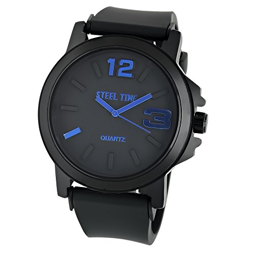 Watch Black Face Rubber Strap - 5
