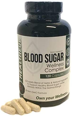 Blood Sugar Wellness Complex -with a Superb Blend of Herbs and Natural Ingredients to Support Promote Healthy Blood Sugar Levels, Weight Loss and Insulin Levels-.