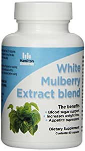 Hamilton Healthcare White Mulberry Leaf Extract for Weightloss and Appetite Supression, 60 Count