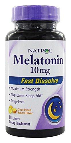 Natrol Dissolve Melatonin Tablets Citrus