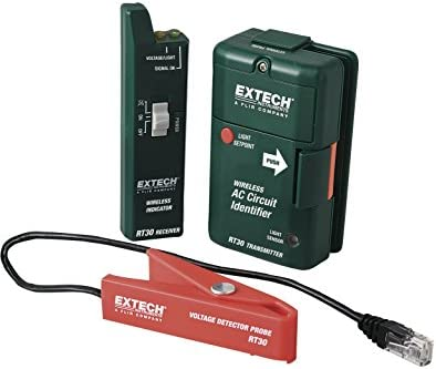 home electrical wire tracer extech rt30 ac circuit 17 df2camazon com extech rt30 wireless ac circuit identifier with external rh amazon com