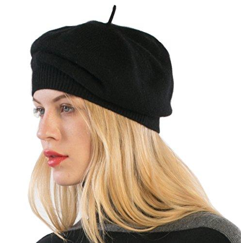cashmere 4 U100% Cashmere Knitted Beret Hat - Fine Cashmere Yarn