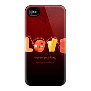 New Style Case Cover JdVIGoF722BkjvY Love Desktop Background Compatible With Iphone 4/4s Protection Case