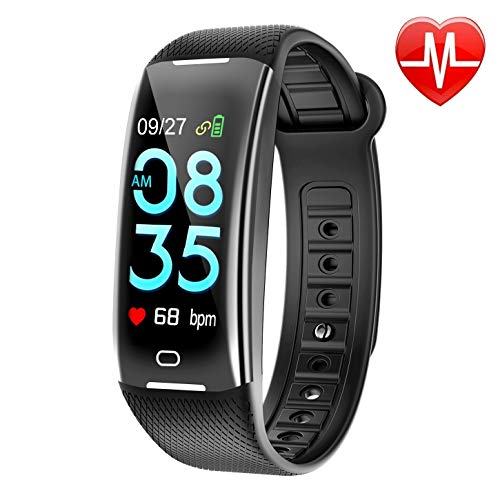 KARSEEN Fitness Tracker Smart Watch H3 Color Screen for Blood Pressure and Heart Rate Monitor Phone Enabled IP67 Waterproof Pedometer Sports Watch for Men (Black) by KARSEEN (Image #9)