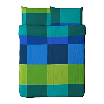 Ikea Brunkrissla Duvet Cover and Pillowcases  Full Queen  Blue. Amazon com  Ikea Brunkrissla Duvet Cover and Pillowcases  Full