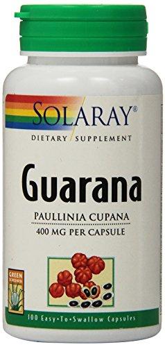 Solaray Guarana Capsules, 400 mg, 100 Count