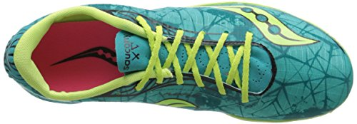 Saucony Shay XC4 Racing camiseta de Spike Green/Citron/Pink