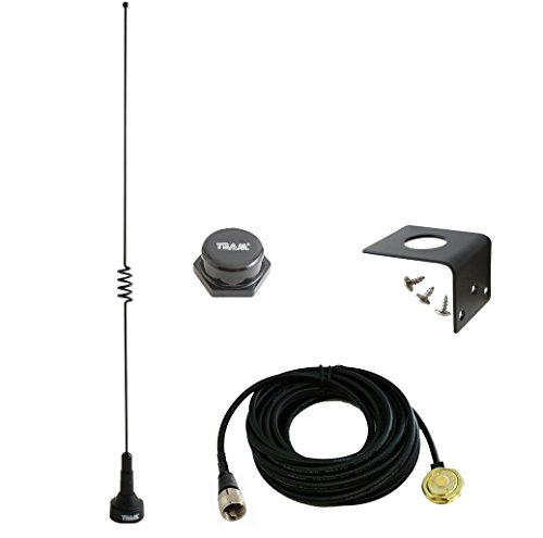 Amateur Dual-Band Marine NMO 18.5 inch Antenna VHF 140-170 & UHF 430-470 MHz for Mobile Radios 2 Meter 70 Centimeters w/PL-259 UHF Mount 1181 -