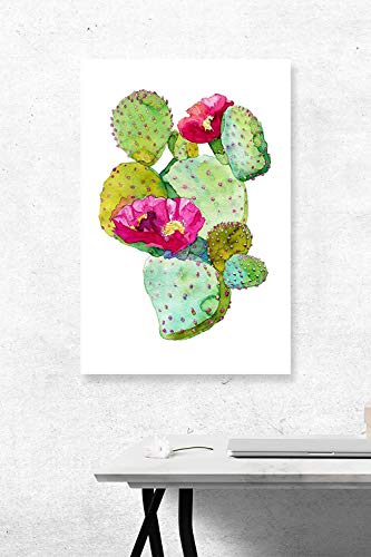 "Kevin Porter Tin Sign New Metal Sign Funny Basilaris Prickly Pear Watercolor Driveway Garage Street Sign 11.8"" X 7.8"""