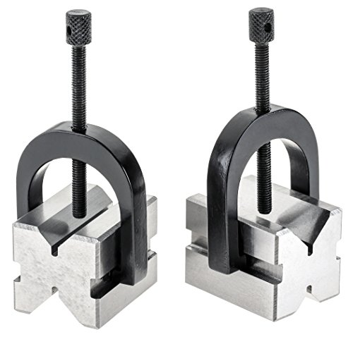 Grizzly H5608 V-Block Pair with Clamps 1-5/8-Inch (Vee Block)