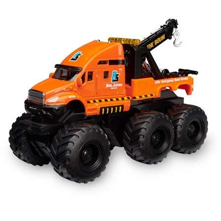Adventure Force Large Die-Cast 6x6 Construction Vehicle,Just Push This Truck and Watch it go,Orange,Makes a Great Gift Idea for Kids