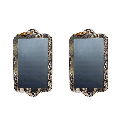 Covert Game Trail Camera Battery Replacement Solar Power Panel Charger (2 Pack)