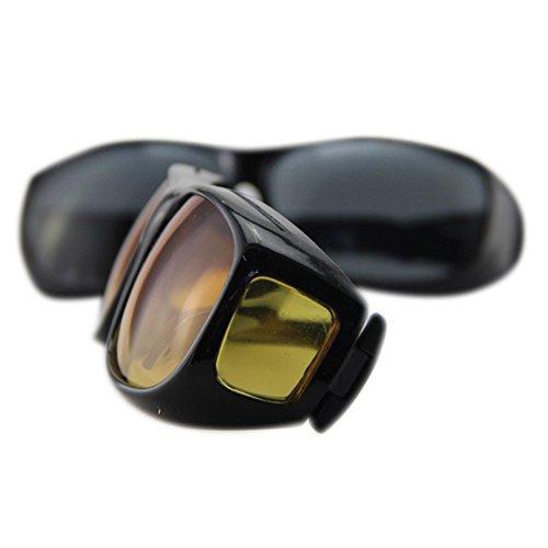 Zantec Gafas de visión nocturna HD sobre envoltura alrededor de gafas de sol protectoras UV Gafas de conducción nocturna multiusos: Amazon.es: Hogar