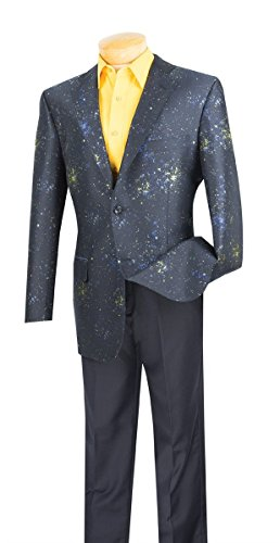Suits Outlets Galaxy Collection - Abstract Fancy Pattern Classic Fit Special Mens Sport - Outlet Stores Near Chicago