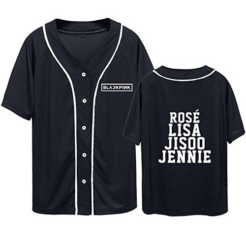 Kpop Blackpink Hipster Hip Hop Baseball Jersey Jisoo Jennie Rose Lisa Tshirt -
