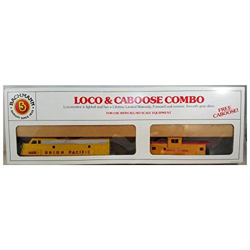 ho-scale-bachman-union-pacific-loco-caboose-combo-yellow-w-red-grapchis