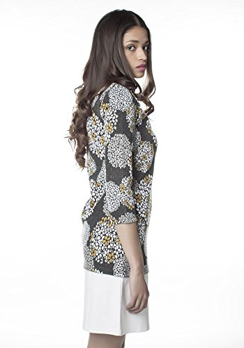 Kleid grau Mamatayoe weiß Damen Column AFAxIEf