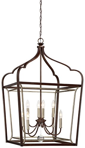 Minka Lavery Minka 4349-593 Transitional Eight Light Foyer from Astrapia Collection in Bronze/Darkfinish, 22.75 Inches 22.75 Incheseight by Minka Lavery