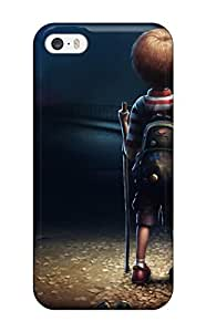 Iphone 5/5s Case Cover - Slim Fit Tpu Protector Shock Absorbent Case (loneliness)