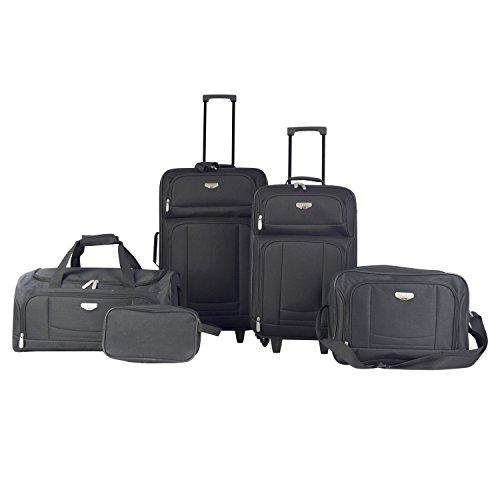 Travelers Club Bottom - Travelers Club Luggage Tuscany 5-Piece Softside Value Set, Black