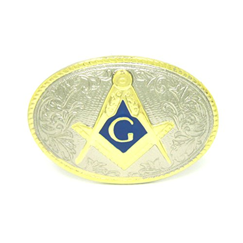 MASOP Oval Gold Mason Belt Buckle Ring Freemasonry Masonic Gifts Buckles Belt Men