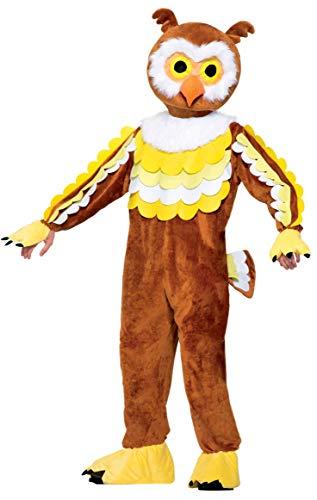 Sports Mascots Halloween Costumes (Forum Novelties Men's Give A Hoot Plush Owl Mascot Costume, Brown, One)