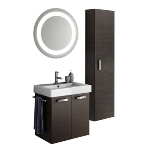 Nameeks C110 ACF 22″ Wall Mounted Vanity Set with Wood Cabinet, Ceramic Top with, Wenge