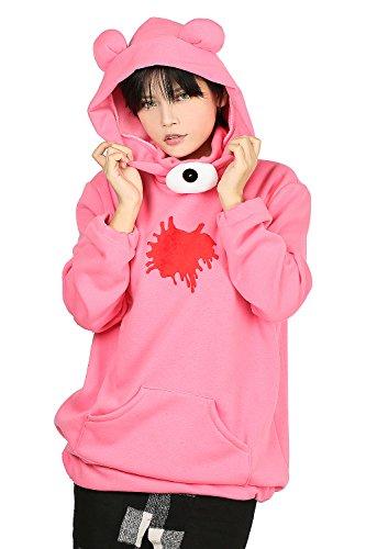 Gloomy Bear Hoodie Pink Cotton Sweatshirt Anime Cosplay Pullover -