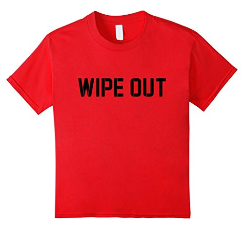 Kids Wipe Out Henchman Costume Shirt 4 Red - Henchman Costume