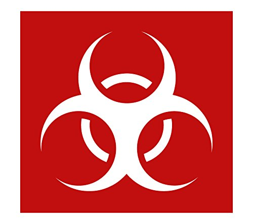 Auto Vynamics - STENCIL-ZOMBIES-BIOHAZARD - Biohazard Symbol Individual Stencil from Detailed Zombie/Undead Stencil Set! - 10-by-10-inch Sheet - Single Design ()