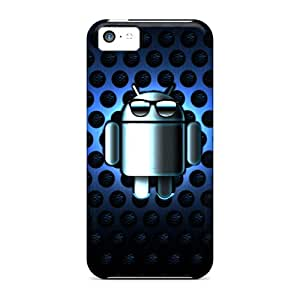 Case Cover Blue Droid/ Fashionable Case For Iphone 5c