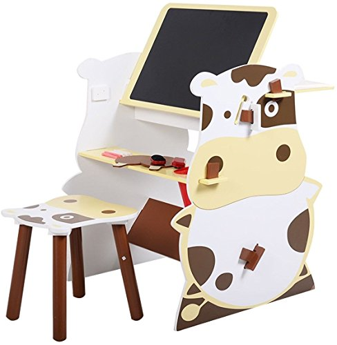 Kids Mutifunctional Drawing Board Creative Desk Set by Blue House