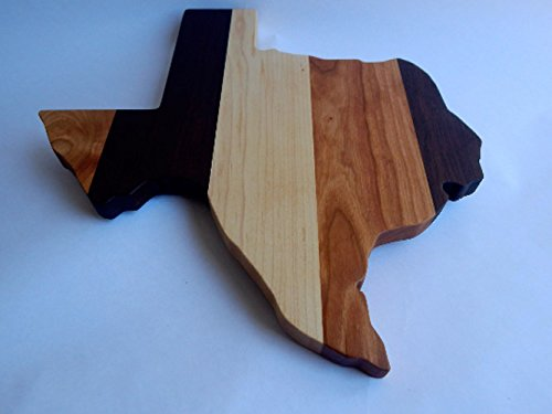 Handcrafted Wood Texas Cheese/Cutting Board. Walnut, Maple, Cherry & Purpleheart wood! Great gift for him or her. Excellent at parties!