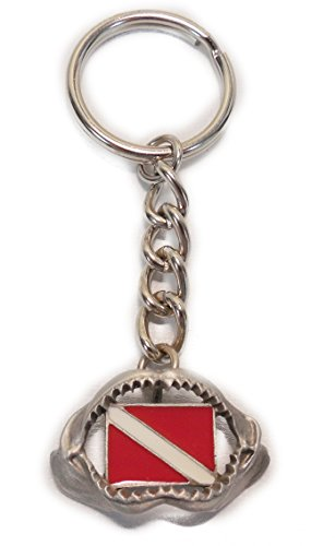 Innovative Shark Jaw With Dive Flag Keychain